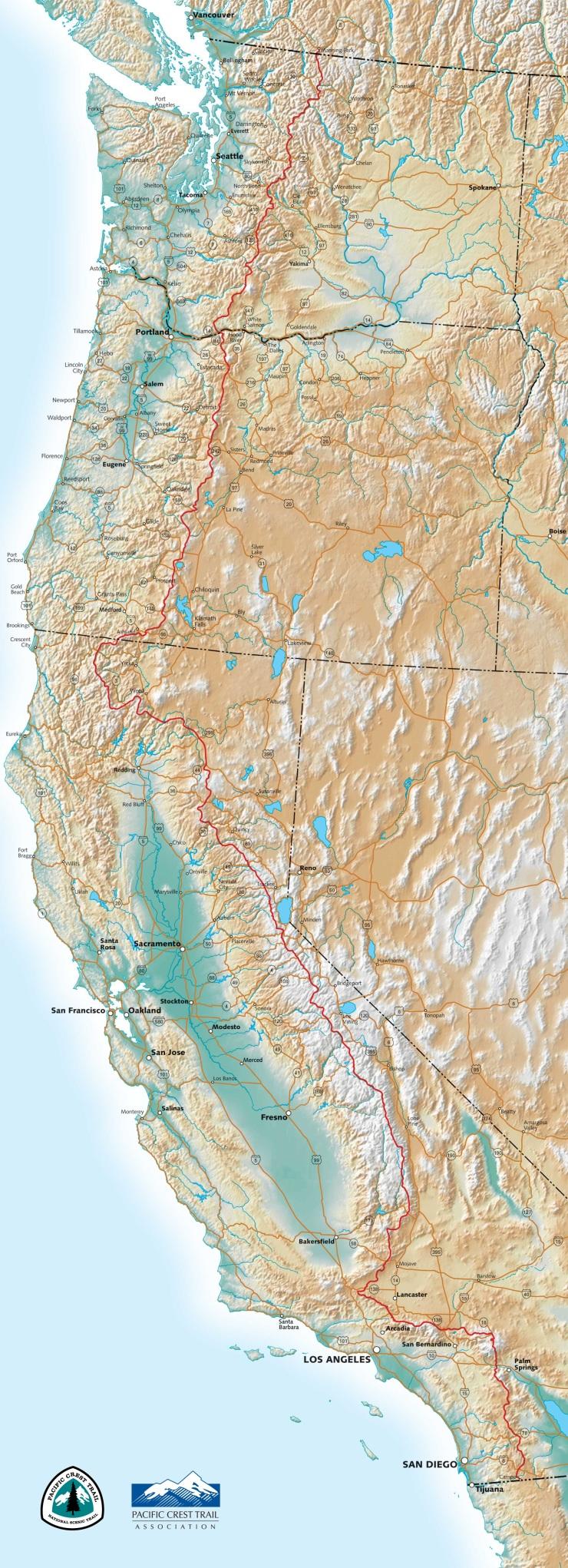 PCTA Map